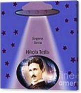 Tesla The Gorgeous Genius Canvas Print
