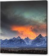 Teton Explosion Canvas Print