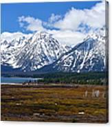Teton Panorama I Center Panel Canvas Print