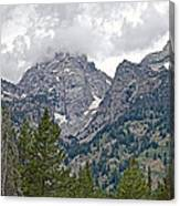 Teton Peaks Near Jenny Lake In Grand Teton National Park-wyoming- Canvas Print
