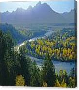 2m9301-teton Range From Snake River Overlook Canvas Print