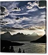 Teton Range Sunset Canvas Print