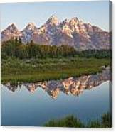 Teton Reflecting Canvas Print