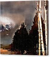 Teton Storm Canvas Print