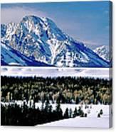 Teton Valley Winter Grand Teton National Park Canvas Print