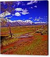 Tetons From Antelope Flats Canvas Print