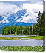 Tetons From Heron Pond In Grand Teton National Park-wyoming Canvas Print
