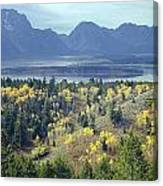 1m9209-tetons From Signal Mountain, Wy Canvas Print