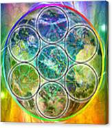 Tetra64 Polarity Earth Canvas Print