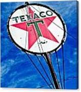 Texaco Gasoline Canvas Print