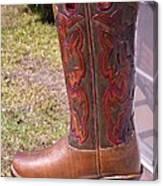 Texas Custom Boot Canvas Print