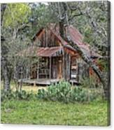 Texas Hill Country House Canvas Print