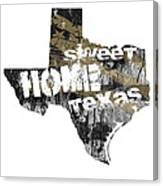 Texas Map Cool Canvas Print