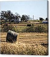 Texas Ranch Scene Canvas Print