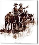 Texas Rangers, Lithograph Of A Wash Canvas Print