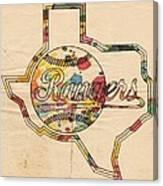 Texas Rangers Logo Vintage Canvas Print