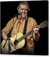 Texas Singer Songwriter Guy Clark In Concert Canvas Print