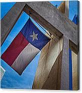 Texas State Flag Downtown Dallas Canvas Print