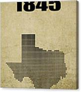 Texas Statehood 2 Canvas Print