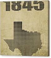 Texas Statehood Canvas Print
