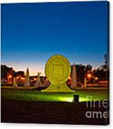 Texas Tech Seal At Night Canvas Print