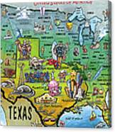 Texas Usa Canvas Print
