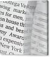Text And Eyeglasses Canvas Print