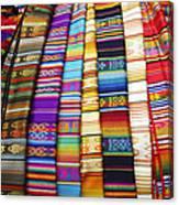 Textile Market Otavalo Ecuador Canvas Print
