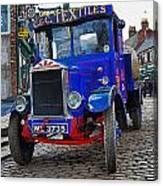 Textile Truck Colour Canvas Print