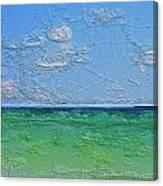 Textured Beach Series 1 Of 2 Canvas Print