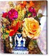 Textured Bouquet Canvas Print