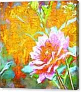 Textured Dahlia Perfection Canvas Print