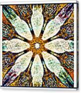 Textured Flower Kaleidoscope Triptych Canvas Print