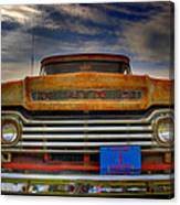 Textured Ford Truck 1 Canvas Print