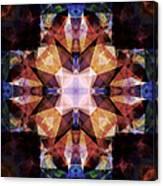 Textured Geometric Mandala Canvas Print