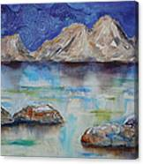 Textured Lakescape Canvas Print