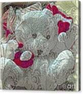 Textured Teddy Canvas Print