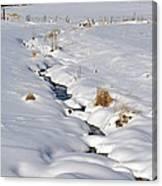 Textured Winter Blues Canvas Print