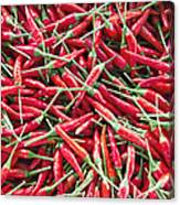 Thai Chili Peppers Background Canvas Print