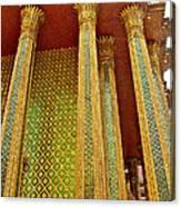 Thai-kmer Pagoda Columns At Grand Palace Of Thailand In Bangkok Canvas Print