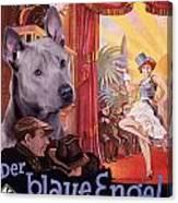 Thai Ridgeback Art Canvas Print - Der Blaue Engel Movie Poster Canvas Print