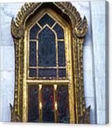 Thai Temple Window Canvas Print