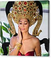 Thai Woman In Traditional Dress Canvas Print