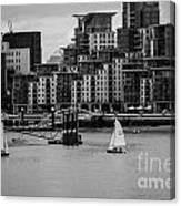 Thames Sailing Canvas Print