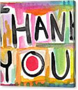 Thank You Card- Watercolor Greeting Card Canvas Print