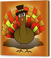 Thanksgiving Turkey Pilgrim Canvas Print