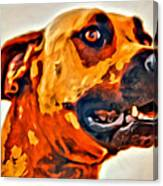That Doggone Face Canvas Print