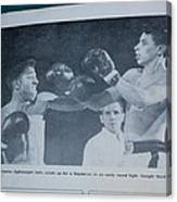 That Me Fighting Erving Nard In 1954 Canvas Print