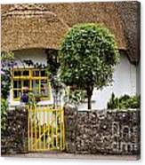 Thatched Cottage House Canvas Print