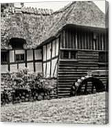 Thatched Watermill 3  Canvas Print